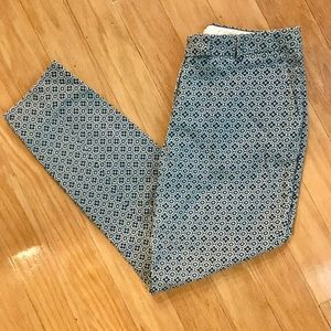 H&M | Blue Patterned Trousers
